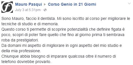 Testimonianza Dentista