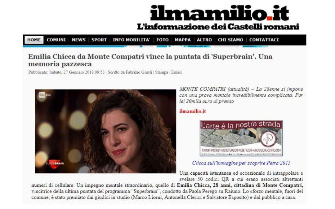 Emilia Chicca da Monte Compatri vince la puntata di 'Superbrain'. Una memoria pazzesca
