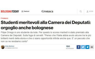 Studenti meritevoli alla Camera dei Deputati: orgoglio anche bolognese
