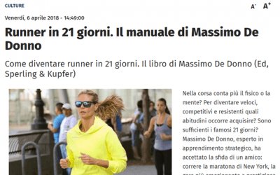 Runner in 21 giorni. Il manuale di Massimo De Donno