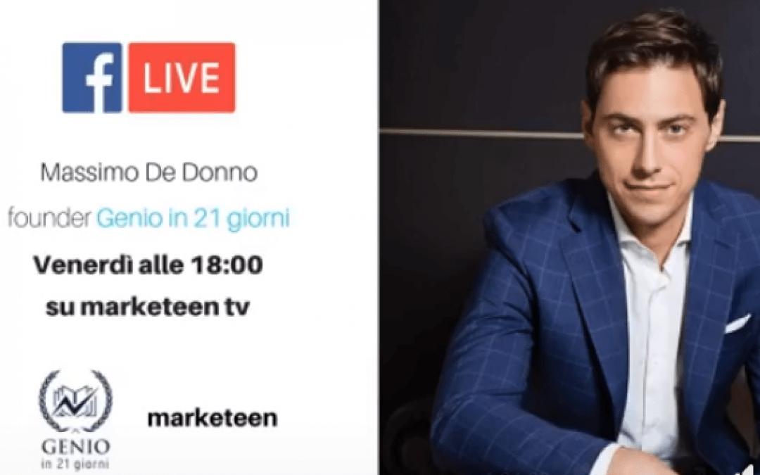 Massimo De Donno intervistato su Marketeen TV