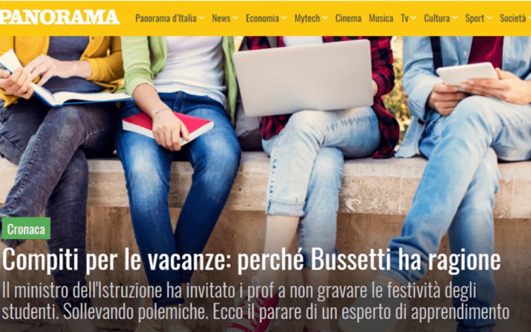 Genio in 21 Giorni su Panorama | Compiti per le vacanze: perchè Bussetti ha ragione