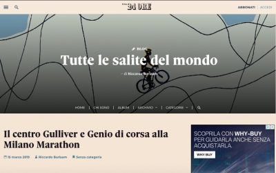 Sole24Ore| Genio in 21 Giorni alla Milano Marathon