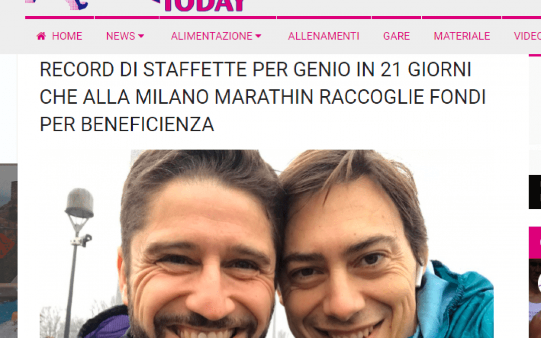 RUN TODAY | Record di Staffette per Genio in 21 Giorni