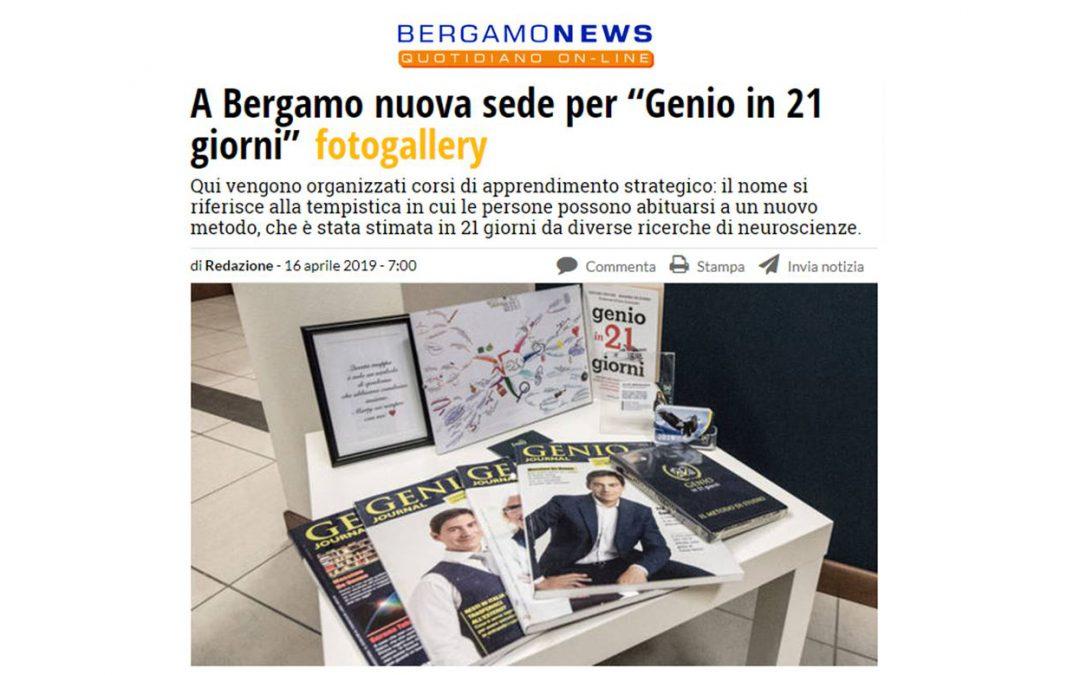 Bergamo News | A Bergamo nuova sede per Genio in 21 Giorni