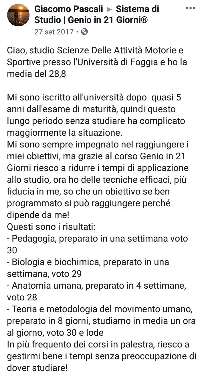 Opinione Corso Genio in 21 Giorni GP