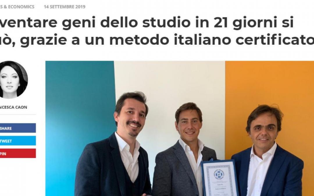 """""""Diventare geni dello studio in 21 giorni si può"""": il Salvagente espone un metodo italiano certificato"""