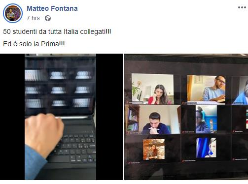 Prima aula studio web online Genio 21 Giorni #lascuolanonsiferma