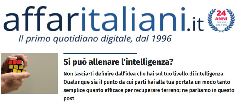 affaritaliani genio in 21giorni allenare intelligenza