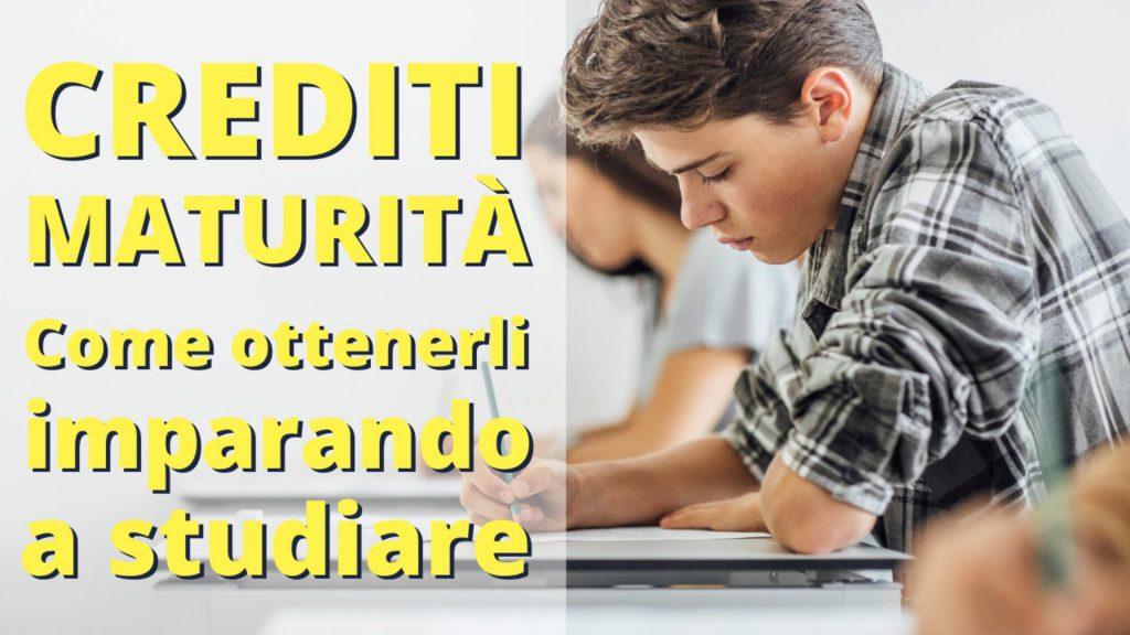 crediti maturità imparando a studiare