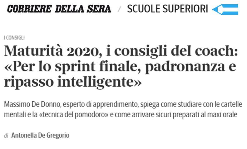 Corriere della Sera parla di Genio in 21 Giorni