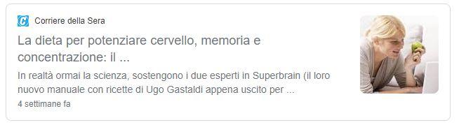 Superbrain corriere della sera Massimo De donno