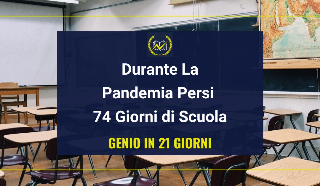 """Genio in 21 Giorni Denuncia: """"Durante la pandemia persi 74 giorni di scuola"""""""