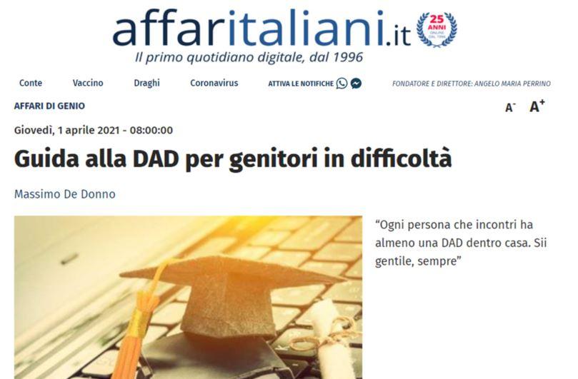 affaritaliani su Genio in 21 Giorni